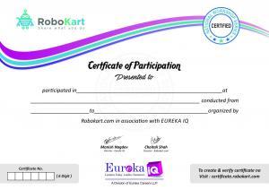 Robokart Certficate